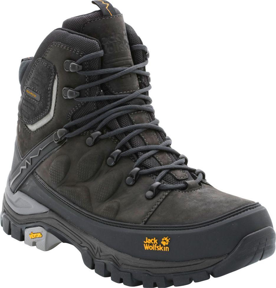 Ботинки трекинговые мужские Jack Wolfskin Impulse Pro Texapore O2+ Mid M, цвет: темно-серый. 4013891-6350. Размер 9 (41,5)4013891-6350Трекинговые мужские ботинки Jack Wolfskin займут достойное место среди коллекции вашей обуви. Модель выполнена из натурального нубука с водонепроницаемой пропиткой. Подъем оформлен классической шнуровкой, которая надежно фиксирует обувь на ноге и регулирует объем. Специальная система BRACE SUPPORT SYSTEM (БРЕЙС САППОРТ СИСТЕМ) поддерживает ногу в области пятки, голени и стопы. Агрессивный рисунок протектора обеспечивает отличное сцепление даже в грязи. Средняя подошва из материала EVA поглощает удары, что особенно ценно во время длительных походов. Все это снижает нагрузку на суставы, и вы дольше остаетесь в форме. Ботинки рассчитаны на длинные и сложные маршруты и обеспечивают отличное сцепление и защиту от непогоды. Прочные и водонепроницаемые трекинговые ботинки с отличными дышащими свойствами обеспечивают вам поддержку и устойчивость.