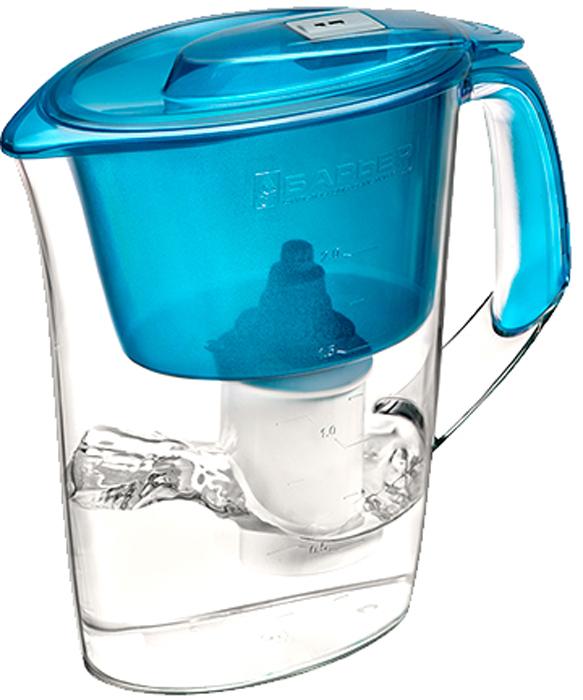Фильтр-кувшин для очистки воды Барьер Стайл, жемчужно-бирюзовый4601032990992Элегантная модель для индивидуального использования