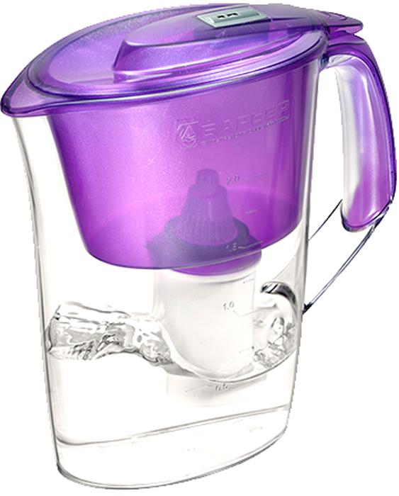 Фильтр-кувшин для очистки воды Барьер Стайл, цвет: жемчужно-фиолетовый4601032990985Настольный фильтр-кувшин для очистки воды Барьер Стайл - это элегантная модель для индивидуального использования с механическим индикатором ресурса. Кувшин изготовлен из безопасных материалов, рекомендованных для контакта с питьевой водой.Особенности: - Возможность размещения в дверце холодильника.- Автоматически открывающаяся воронка. Воронка открывается при наклоне кувшина.- Защита от попадания загрязнений. Конструкция воронки защищает от попадания пыли в отфильтрованную воду.- Надежное резьбовое крепление кассеты к воронке кувшина исключает попадание неочищенной воды из воронки в отфильтрованную воду. - В комплект входит кассета Стандарт.
