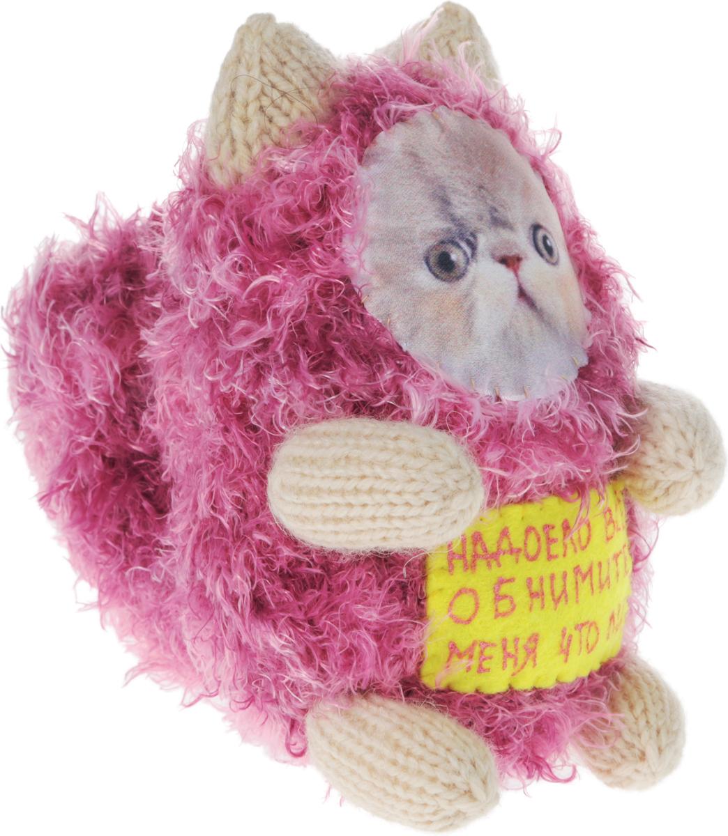 Мягкая игрушка Бюро находок Котик. Надоело все, цвет: розовый, белый, 15 см рюмка бюро находок сними напряжение цвет прозрачный