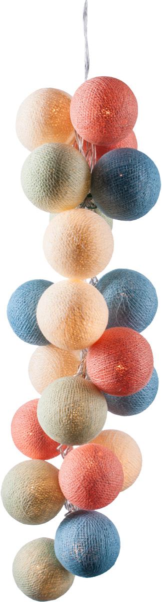 Гирлянда электрическая Гирляндус Пудра, из ниток, LED, от батареек, 10 ламп, 1,5 м4670025840484Новогодняя электрическая гирлянда Гирляндус Пудра ручной работы украситинтерьервашегодома или офиса в преддверии Нового года. Каждый шарик сделан вручную изниток и клея,светится приятным мягким светом. Шарики хрупкие, но даже если вы их помнете,их всегда можновыправить. Инструкция прилагается. Откройте для себя удивительный мир сказок и грез. Почувствуйте волшебныеминуты ожиданияпраздника, создайте новогоднее настроение вашим дорогим и близким. Работает от 2 батареек типа АА (входят в комплект).Количество ламп (шариков): 10 шт. Диаметр шарика: 6 см.