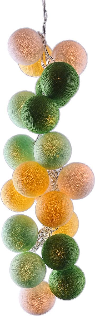 Гирлянда электрическая Гирляндус Примавера, из ниток, LED, 220В, 10 ламп, 1,5 м4670025841337Нежная гирлянда ручной работы. Каждый шарик сделан вручную из ниток и клея, светится приятным мягким светом. Шарики хрупкие, но даже если вы их помнёте, их всегда можно выправить. Инструкция прилагается.Количество ламп (шариков): 10 шт.