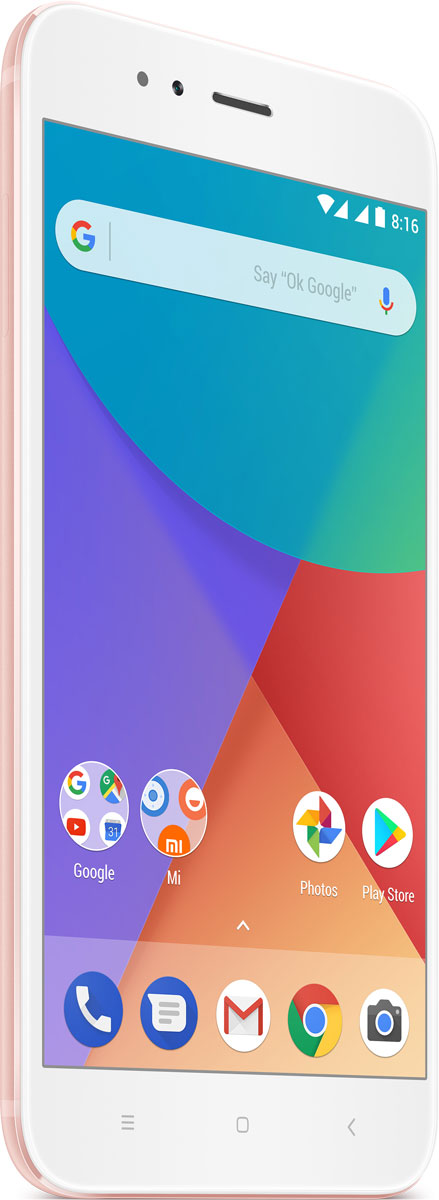 Xiaomi Mi A1 (64GB), Gold RoseMi_A1_64GB_Rose GoldMi A1 Rose Gold, 5.5 1920x1080, 2.0GHz, 8 Core, 4GB RAM, 64GB, up to 128GB flash, 2x12Mpix/5Mpix, 2 Sim, 2G, 3G, LTE, BT, Wi-Fi, GPS, Glonass, 3080mAh, 165g, 155.4x75.8x7.3