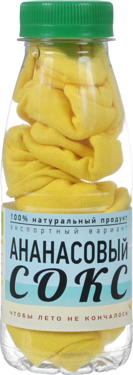 Носки Бюро находок Ананасовый сокс. Лайт, цвет: желтый. Размер 27 рубашки pepe jeans london рубашка slim fit