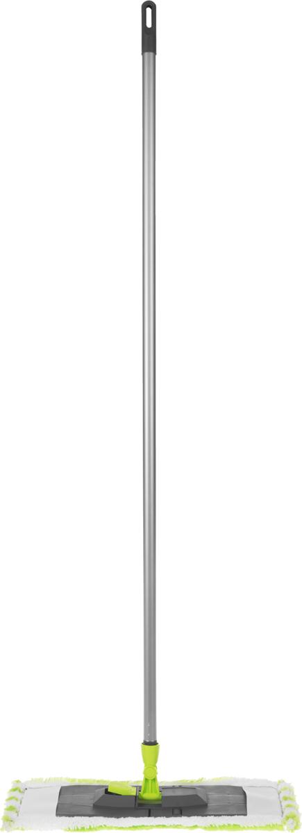 Швабра Эргопак, универсальная, цвет: серый, салатовый, длина 110 см3541 ERGN_серый, салатовыйУниверсальная швабра Эргопак, выполненная из высококачественного металла, полипропилена и полиэтилена, идеально подходит для мытья всех типов напольных поверхностей: паркет, ламинат, линолеум, кафельная плитка. Материалы насадки - полиэстер и полиакрилонитрил, которые обладают высокой износостойкостью, не царапают поверхности и отлично впитывают влагу. Благодаря своей структуре, насадка отлично моет углы. Длина ручки: 120 см. Размер насадки: 45 х 14 см.