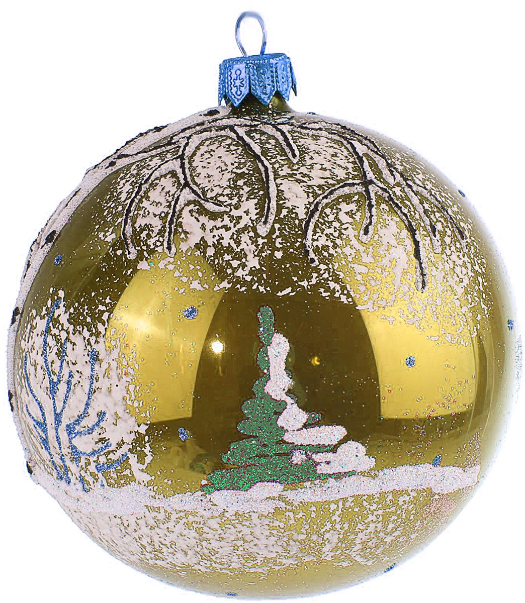 Украшение новогоднее елочное Иней Березка, цвет: золотой, диаметр 10 см1519286_золотойЕлочная игрушка - символ приближающегося праздника. Она послужит прекрасным подарком как для ребенка, так и для взрослого, а также дополнит новогодний интерьер. Шары будут отлично смотреться на праздничной елке.