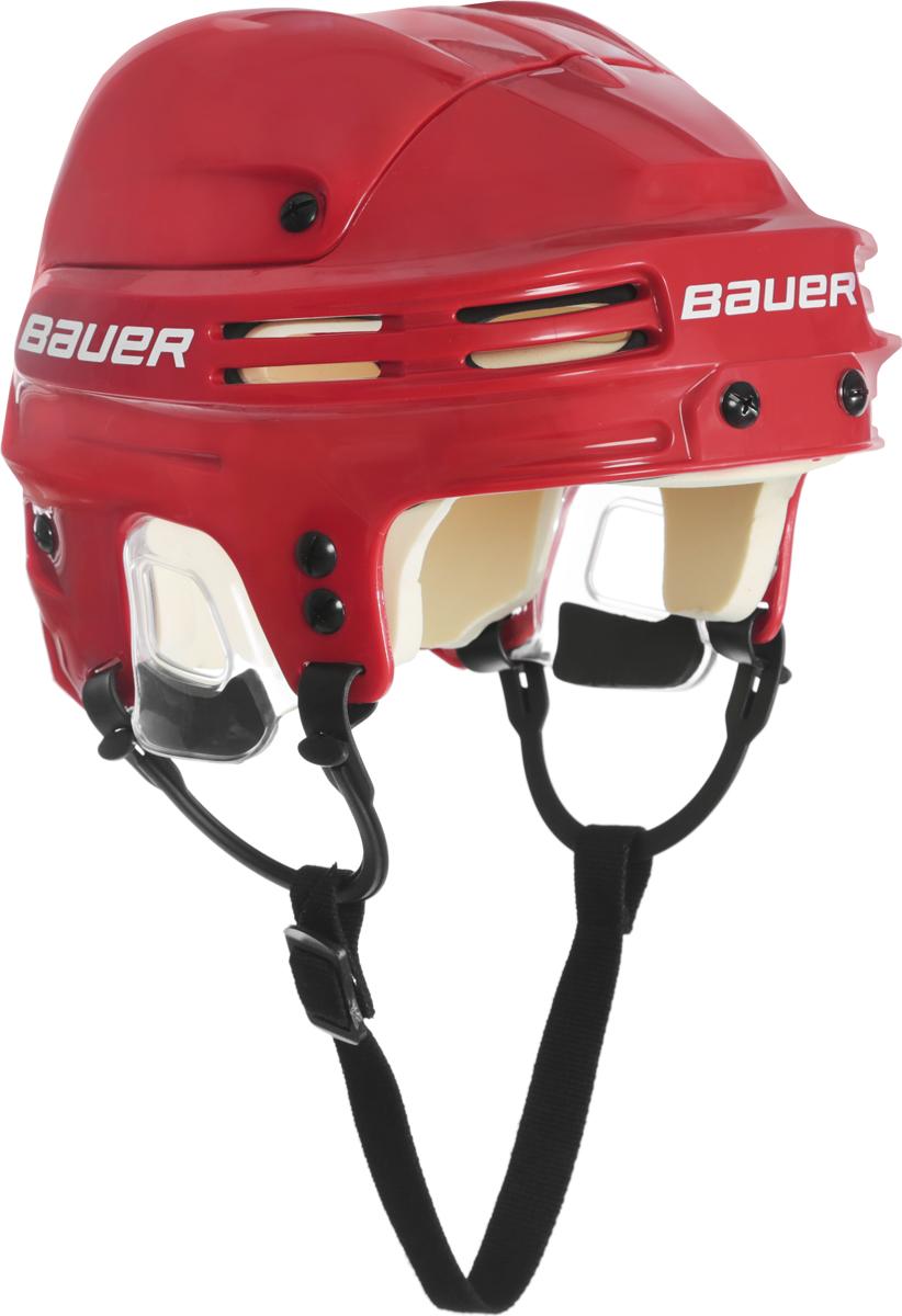 Шлем Bauer 4500, цвет: красный. 1032712. Размер L1032712Конструкция шлема Bauer 4500 имеет классический вид, верхняя часть с двумя выступающими гребнями и подкладка из вспененного винил-нитрила двойной плотности обеспечивают защиту во время всего матча.Защита на каждый игровой день:- Пена двойной плотности- Эргономичная прозрачная защита ушей- Верхняя часть с двумя выступающими гребнямиИндивидуальная посадка:- Быстрая регулировка при помощи инструментаКомфорт:- Свободно двигающиеся ушные петли, как на профессиональных моделях