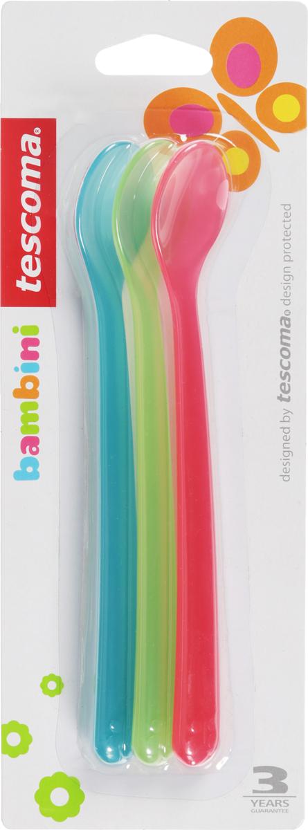 Набор детских ложек Tescoma Bambini, цвет: голубой, салатовый, розовый, 3шт. 668066668066_голубой, салатовый, розовыйМягкие пластиковые ложки хорошего качества. Идеально, чтобы начать кормление ребенка пюре. Набор состоит из трех ложечек! Выполнены из безопасного пластика. Можно мыть в посудомоечной машине.