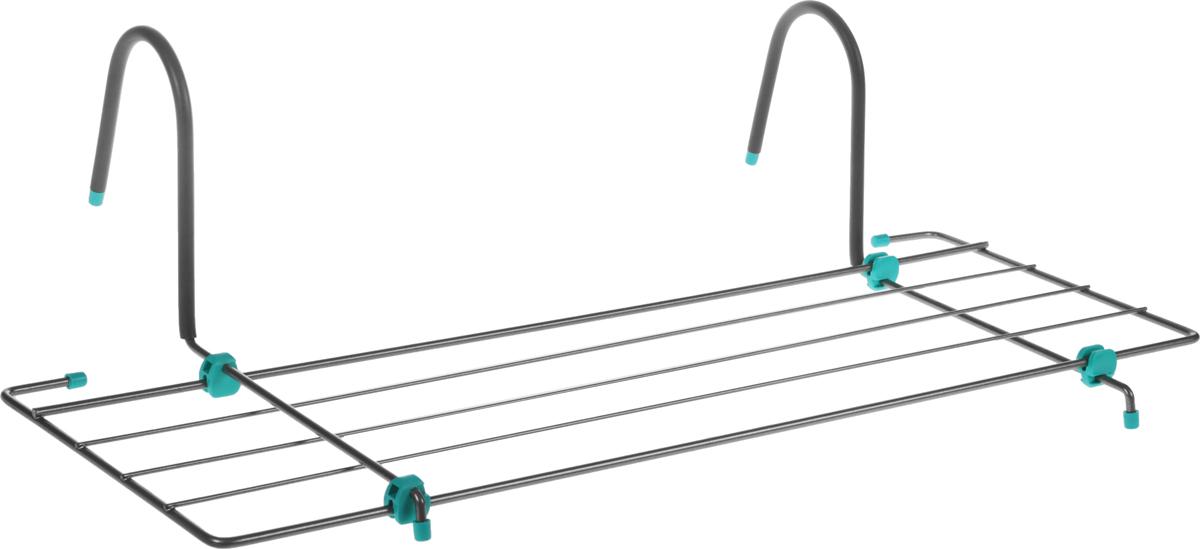 Сушилка для белья Nika, на батарею, цвет: серый, бирюзовый, 3 мСБ5-65_бирюзовый, коричневыйСушилка для белья Nika предназначена для просушки одежды и обуви. Изделие устанавливается на батареи любой конфигурации. Сушилка изготовлена из прочного и окрашенного метала с элементами пластика. Сушилка безопасна в использовании, так как все края надежно заделаны специальными заглушками. Общая длина сушильного полотна: 3.1 м.Максимальная нагрузка: 5 кг.Размер сушилки: 65 х 23,5 см.