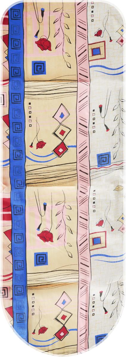 Чехол для гладильной доски Detalle, универсальный, цвет: бежевый, красный, синий, 125 х 47 смЕ1301_бежевый, розовый, синий, бордовыйЧехол для гладильной доски Detalle, выполненный из хлопка с подкладкой из мягкого войлокообразного полотна (ПЭФ), предназначен для защиты или замены изношенного покрытия гладильной доски. Чехол снабжен стягивающим шнуром, при помощи которого вы легко отрегулируете оптимальное натяжение чехла и зафиксируете его на рабочей поверхности гладильной доски.Из войлокообразного полотна вы можете вырезать подкладку любого размера, подходящую именно для вашей доски. Этот качественный чехол обеспечит вам легкое глажение. Он предотвратит образование блеска и отпечатков металлической сетки гладильной доски на одежде. Войлокообразное полотно практично и долговечно в использовании. Размер чехла: 125 см x 47 см.Максимальный размер доски: 120 см х 42 см.Размер войлочного полотна: 130 см х 52 см.