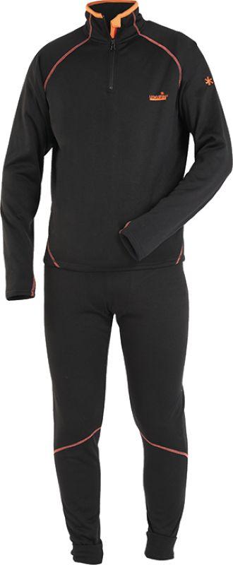 Комплект термобелья мужской Norfin Winter Line 01: брюки, кофта, цвет: черный. 3025001. Размер: S (44/46)3025001Термобелье NORFIN WINTER LINE. «Дышащее» раздельное термобелье. Согласно послойной концепции Norfin является термобельем базового слоя при средней физической активности. Мягкий, очень приятный для тела материал. Белье скроено таким образом, чтобы не стеснять движений тела – оно имеет максимальную эластичность в необходимых зонах. ТЕРМОБЕЛЬЕ:Очень приятный и мягкий материал.Надежная застежка-молния.Эластичный пояс.Эластичные манжеты на штанах.Прорезь на рукаве под большой палец. Материал: ПОЛИЭСТЕР.