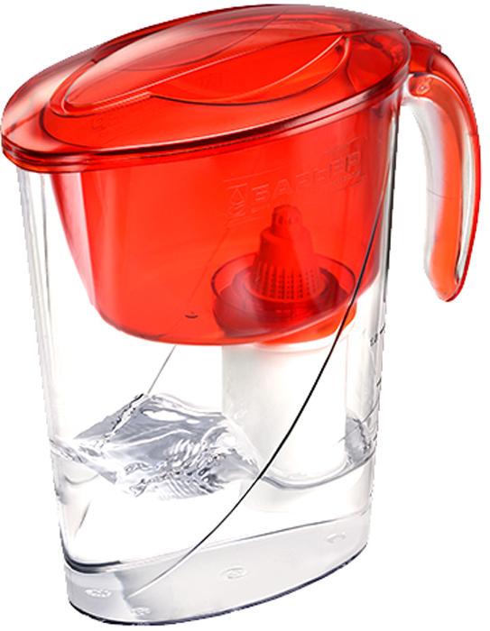 Фильтр-кувшин для очистки воды Барьер Эко, цвет: цвет: алый4601032990800Настольный фильтр-кувшин для очистки воды Барьер Эко - это компактный кувшин для миниатюрной кухни. Кувшин изготовлен из безопасных материалов, рекомендованных для контакта с питьевой водой.Особенности:- Возможность размещения в дверце холодильника. - Удобная консольная ручка. - Автоматически открывающаяся воронка. Воронка открывается при наклоне кувшина. - Защита от попадания загрязнений. Конструкция воронки защищает от попадания пыли в отфильтрованную воду. - Надежное резьбовое крепление кассеты к воронке кувшина исключает попадание неочищенной воды из воронки в отфильтрованную воду.- В комплект входит кассета Стандарт.
