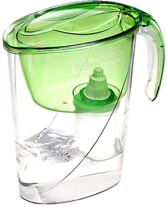 фильтр для воды эко Фильтр-кувшин для очистки воды Барьер Эко, цвет: салатовый