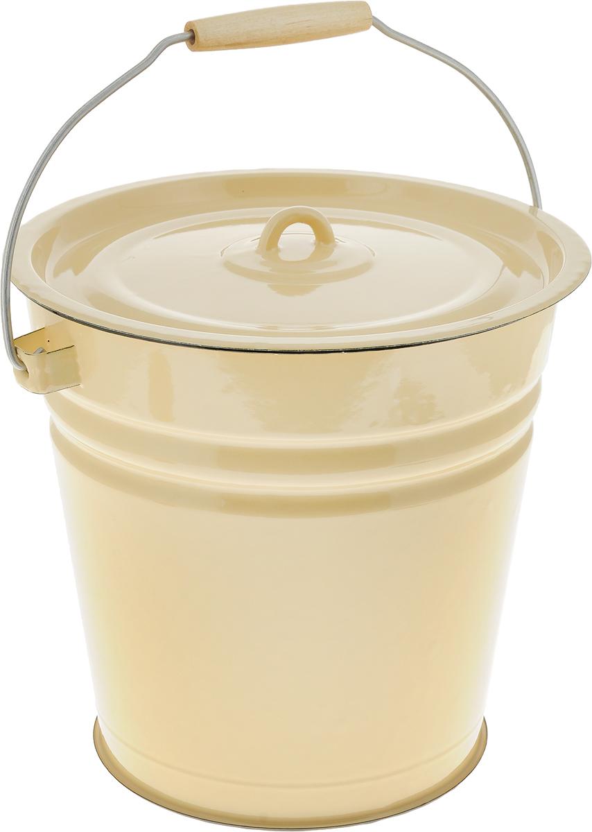 Ведро эмалированное СтальЭмаль, с крышкой, цвет: желтый, 12 л. 2С282С28_желтыйВедро эмалированное СтальЭмаль, с крышкой, цвет: желтый, 12 л. 2С28