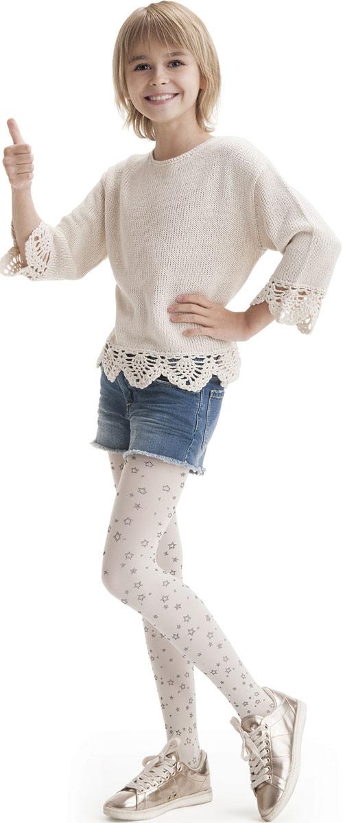 Колготки для девочек Knittex Zoya, цвет: жемчужный. Размер 152/158 брюки для девочки btc цвет черный 12 017900 размер 40 158
