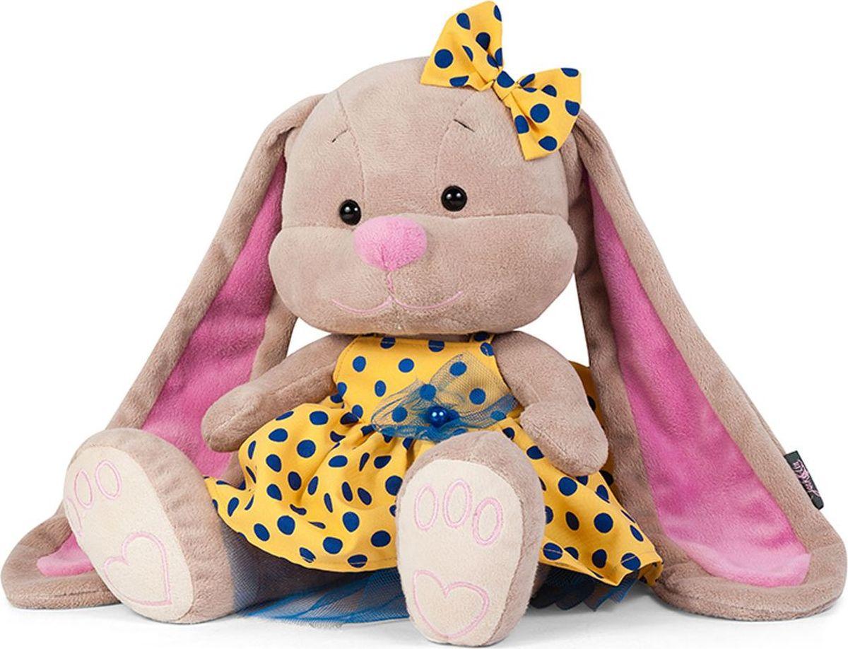 Jack and Lin Мягкая игрушка Зайка Лин в желтом платье 25 см игрушка мягкая jack and lin зайка лин черничный пудинг 25см jl 021 25