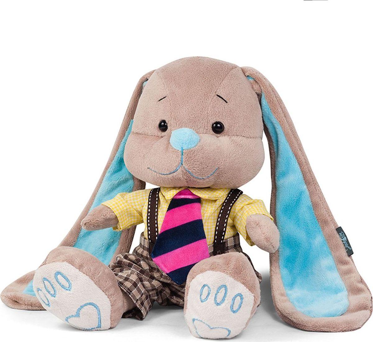 Jack and Lin Мягкая игрушка Зайчик Жак в полосатом галстуке 25 см футболка lin show 367