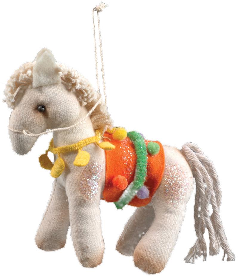 Украшение для интерьера новогоднее Erich Krause Пони с арены, 12 см29963Украшение в виде лошадки выполнено из мягкого текстиля. Приятная на ощупь, игрушка станет замечательным подарком. Новогодние украшения всегда несут в себе волшебство и красоту праздника. Создайте в своем доме атмосферу тепла, веселья и радости, украшая его всей семьей.