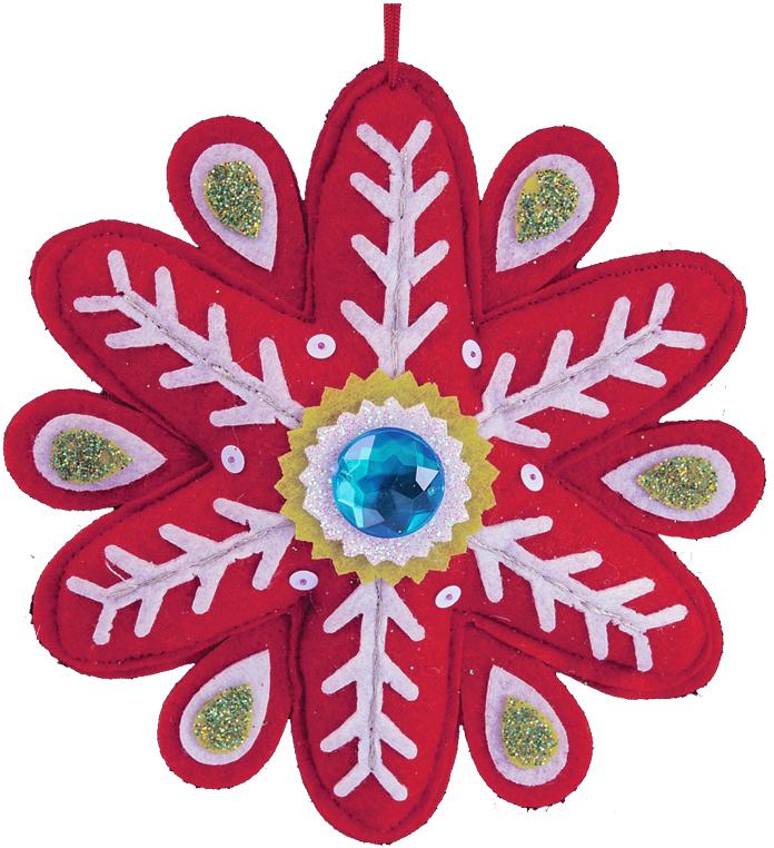 Украшение для интерьера новогоднее Erich Krause Снежинка со стразинкой, 15 см43759Яркая снежинка, выполненная из текстиля, подходит для декорирования детской комнаты. Мягкое и абсолютно безопасное, украшение добавит праздничной яркости. Представлено три цвета в ассортименте. Новогодние украшения всегда несут в себе волшебство и красоту праздника. Создайте в своем доме атмосферу тепла, веселья и радости, украшая его всей семьей.