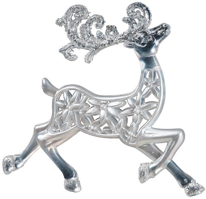 Украшение для интерьера новогоднее Erich Krause Олень ажурный, 10 см36050Олень с ажурным рельефом застыл в изящном прыжке, а на его рогах, словно искристый снег, равномерно лежат блестки. Новогодние украшения всегда несут в себе волшебство икрасоту праздника. Создайте в своем доме атмосферу тепла, веселья и радости, украшая еговсей семьей.