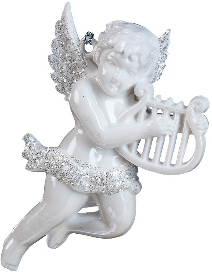 Украшение для интерьера новогоднее Erich Krause Музыкальный Амур, 10 см. 3606736067Ангелы всегда являются одними из самых популярных новогодних украшений. В руках у ангела, выполненного в перламутровом цвете, находится музыкальный инструмент, а его крылья деликатно присыпаны блестками. Новогодние украшения всегда несут в себе волшебство и красоту праздника. Создайте в своем доме атмосферу тепла, веселья и радости, украшая его всей семьей.