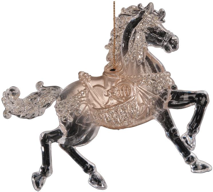 Украшение для интерьера новогоднее Erich Krause Конь златогривый, 12 см36863Грациозный конь выполнен в прозрачном цвете, а его тело декорировано золотыми блестками. Фигурки животных всегда пользуются большой популярностью, и спрос на них является стабильно высоким. Представлено две модели в ассортименте. Выбор модели невозможен. Упаковка - полибэг.
