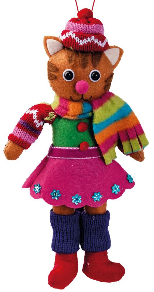 Украшение для интерьера новогоднее Erich Krause Костюм на ярмарку. Кошка, 23,5 см38547Мягкий и приятный на ощупь, зверек в цветном наряде, станет замечательным подарком или украшением праздничного интерьера. Новогодние украшения всегда несут в себе волшебство икрасоту праздника. Создайте в своем доме атмосферу тепла, веселья и радости, украшая еговсей семьей.