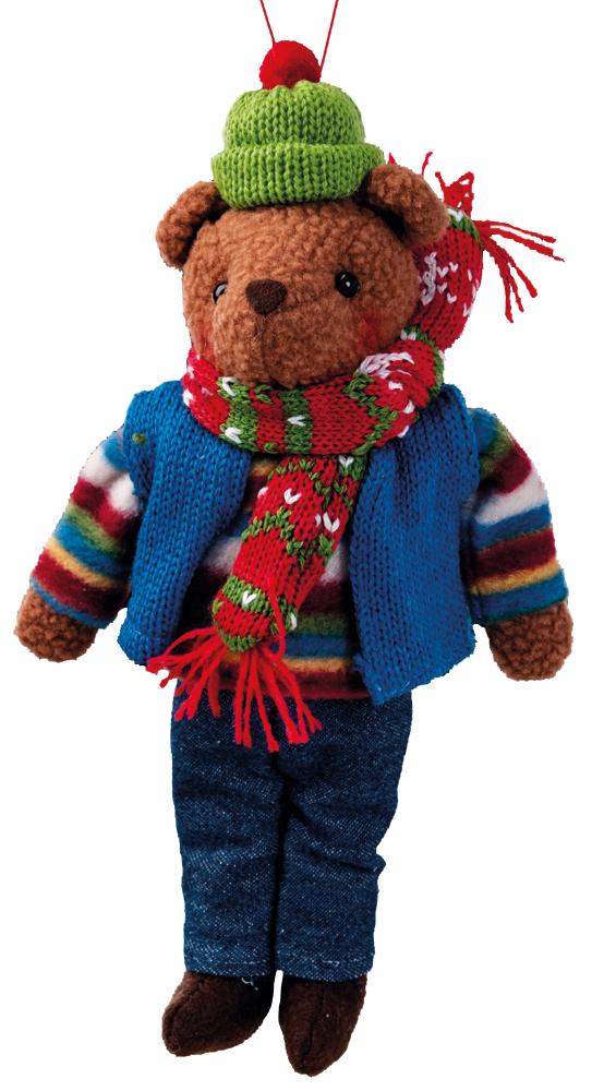 Украшение для интерьера новогоднее Erich Krause Мишутка в свитере, 23 см38548Мягкий и приятный на ощупь, медвежонок в цветном наряде, станет замечательным подарком или украшением праздничного интерьера. Представлено две модели в ассортименте. Выбор модели невозможен. Упаковка - полибэг.