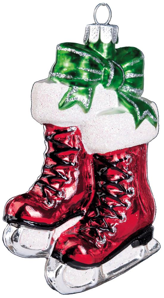 Украшение для интерьера новогоднее Erich Krause Коньки с подарками, цвет: красный, 10 см38635Яркие и нарядные коньки сделаны из стекла. Представлено три цвета в ассортименте, выбор не предусмотрен. Новогодние украшения всегда несут в себе волшебство и красоту праздника. Создайте в своем доме атмосферу тепла, веселья и радости, украшая его всей семьей.