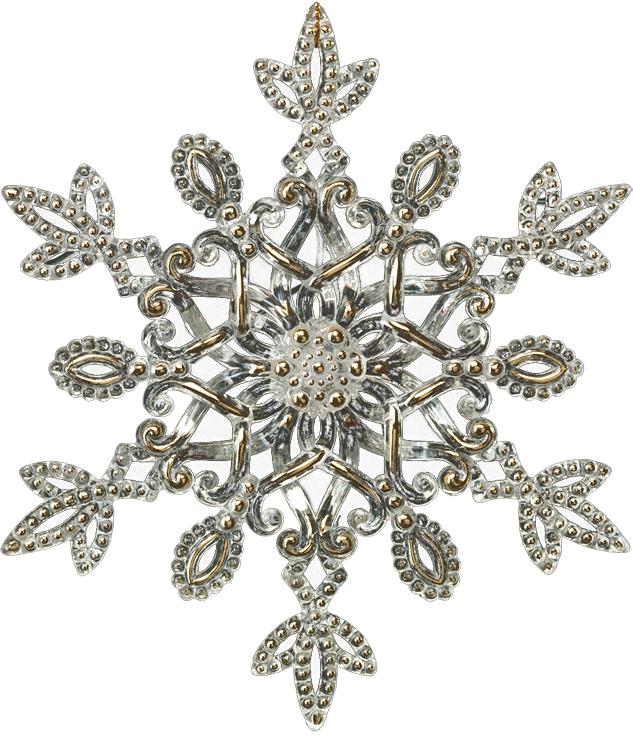 Украшение для интерьера новогоднее Erich Krause Снежинка кружевная, 12,5 см. 4027140271Звенящую прозрачность снежинки подчеркивают деликатные золотые вкрапления. Смотрится изысканно. Новогодние украшения всегда несут в себе волшебство икрасоту праздника. Создайте в своем доме атмосферу тепла, веселья и радости, украшая еговсей семьей.