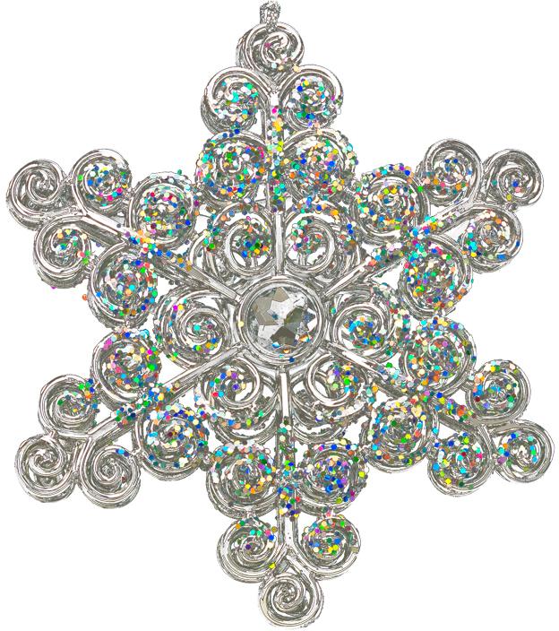 Украшение для интерьера новогоднее Erich Krause Снежинка искрящаяся, 12,5 см украшение для интерьера новогоднее erich krause падающая снежинка 8 5 см