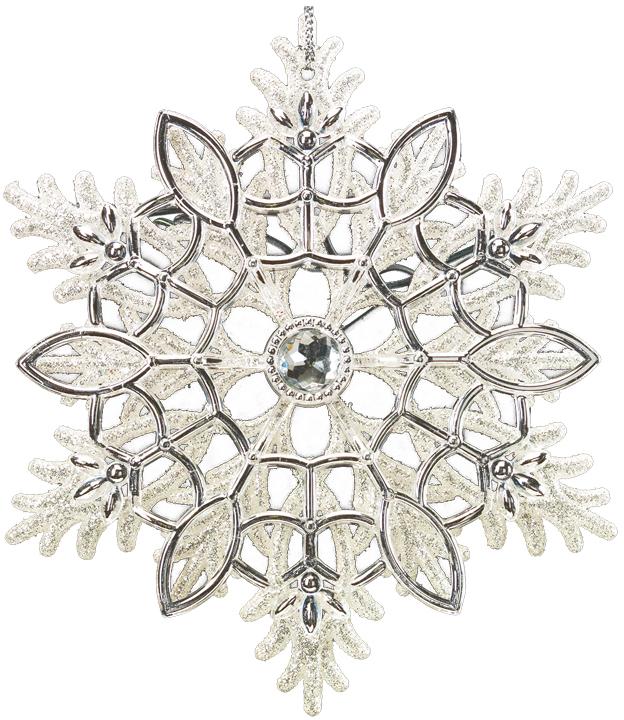 Украшение для интерьера новогоднее Erich Krause Снежинка ажурная, 13,5 см40995Деликатно подчеркнутое серебро в сочетании с белыми блестками, привносит снежинке воздушность. Отлично подходит и для крупной елки, и для декорирования помещений. Новогодние украшения всегда несут в себе волшебство икрасоту праздника. Создайте в своем доме атмосферу тепла, веселья и радости, украшая еговсей семьей.