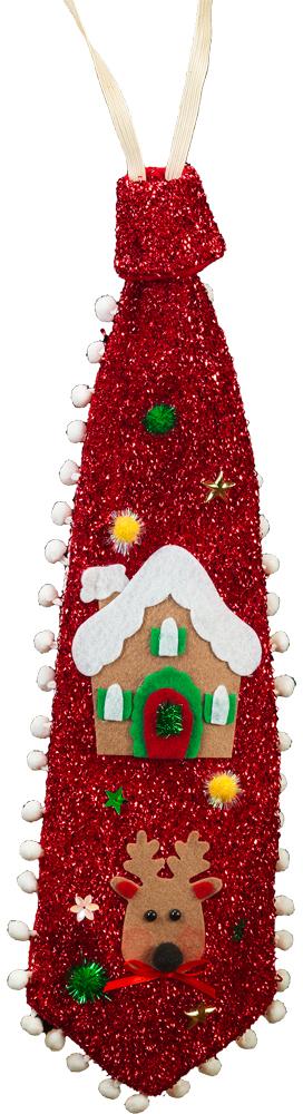 Сувенир новогодний Erich Krause Галстук на резинке, длина 45 см41074Галстук с новогодними мотивами допополнит любой шуточный наряд, сделав его более запоминающимся. Новогодние украшения всегда несут в себе волшебство и красоту праздника. Создайте в своем доме атмосферу тепла, веселья и радости, украшая его всей семьей.