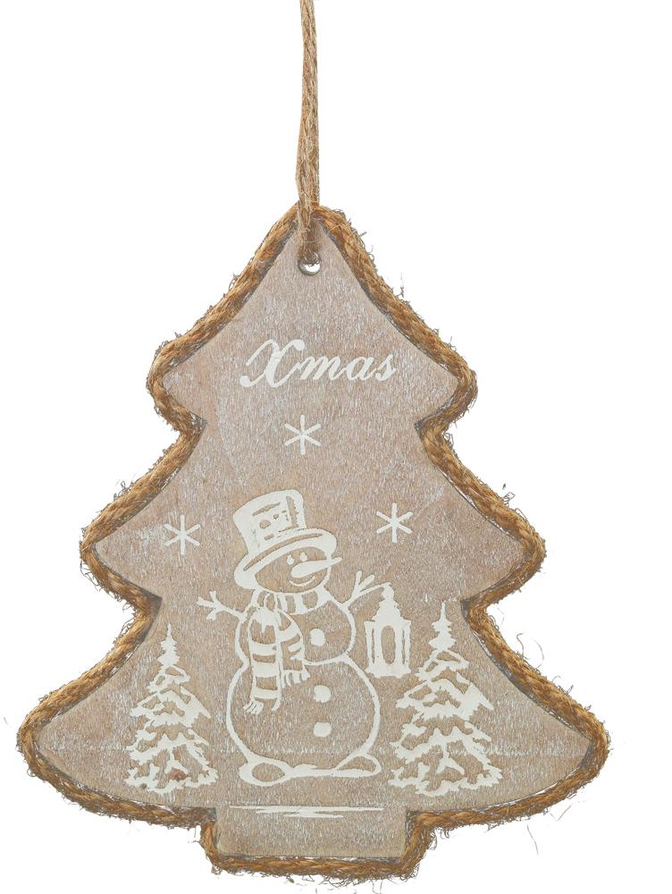 Украшение для интерьера новогоднее Erich Krause Декоративная елочка, 12,5 см41294Украшения из дерева - новый тренд рождественского декора! На елочке белой краской изображен зимний сюжет. Новогодние украшения всегда несут в себе волшебство и красоту праздника. Создайте в своем доме атмосферу тепла, веселья и радости, украшая его всей семьей.