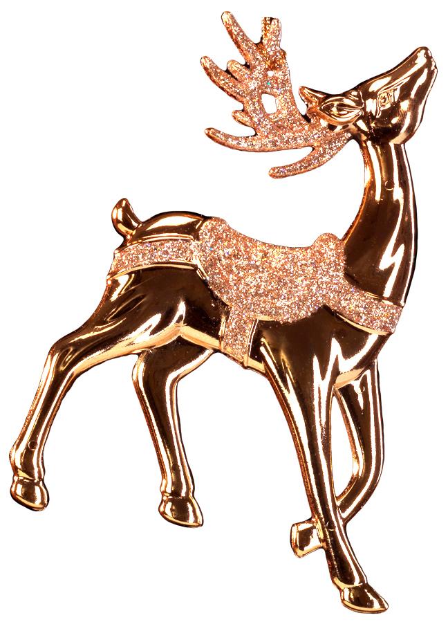 Изящный олень выполнен в цвете розового золота, а его рога и седло покрыты чарующими блестками. Фигурки животных всегда пользуются большой популярностью, и спрос на них является стабильно высоким. Новогодние украшения всегда несут в себе волшебство и красоту праздника. Создайте в своем доме атмосферу тепла, веселья и радости, украшая его всей семьей.