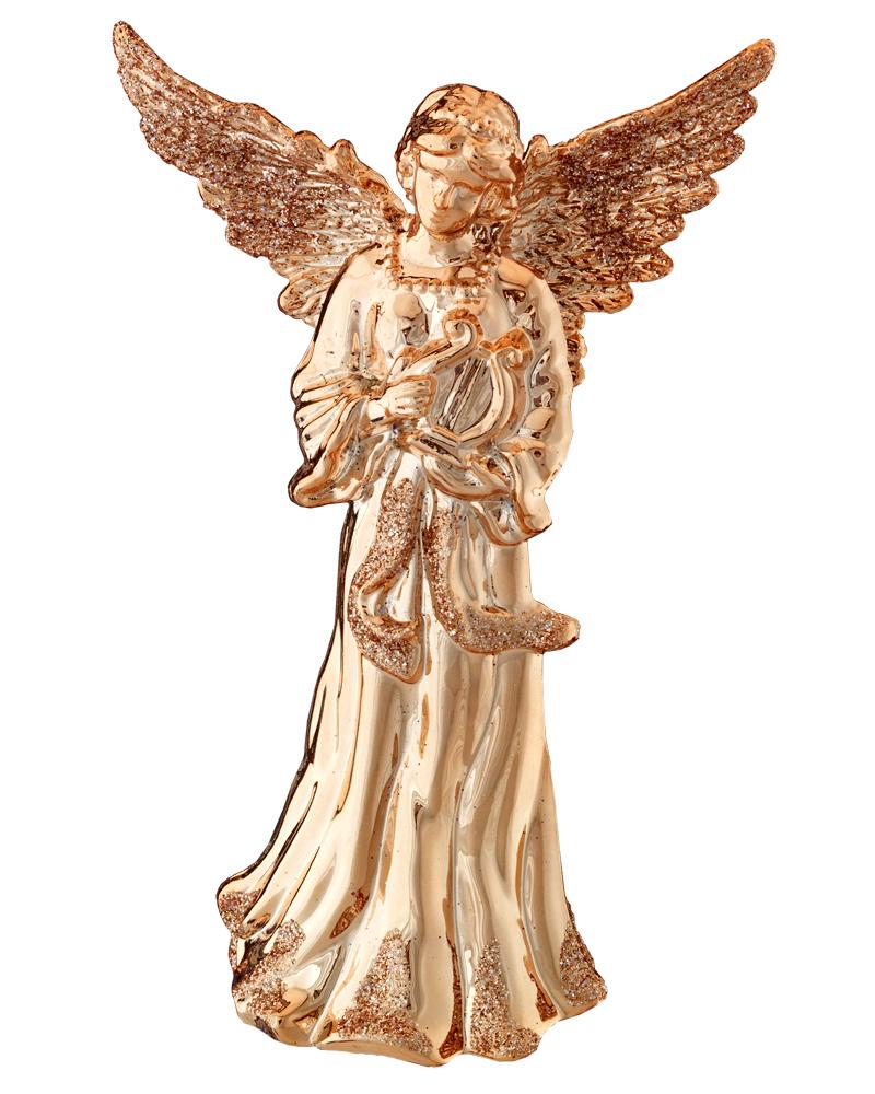Украшение для интерьера новогоднее Erich Krause Ангел, высота 12,5 см43654Ангелы всегда являются одними из самых популярных новогодних украшений. Данное изделие покоряет цветом розового золота и блестками, деликатно украшающими фрагментам одежды. Новогодние украшения всегда несут в себе волшебство и красоту праздника. Создайте в своем доме атмосферу тепла, веселья и радости, украшая его всей семьей.