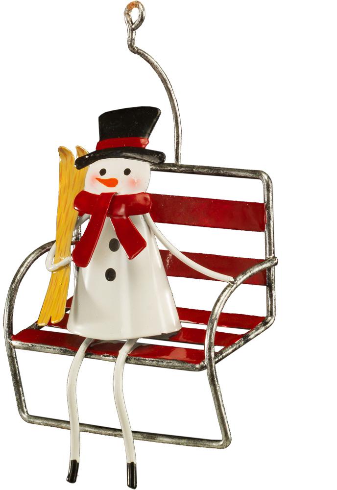 Украшение для интерьера новогоднее Erich Krause Ожидание праздника, 14 см43771Необычное елочное украшение полностью выполнено из металла. Представлено две модели в ассортименте (снеговик и Дед Мороз), находятся в групповой упаковке в равных долях. Выбор модели невозможен. Упаковка - полибэг.