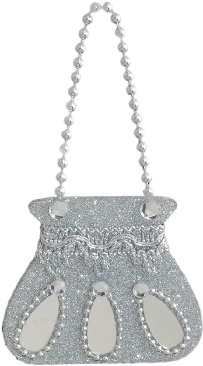 Украшение для интерьера новогоднее Erich Krause Ридикюль, 9,5 см27523Милая сумочка серебристого цвета имеет красивую цепочку из бусинок. Упаковка - полибэг.