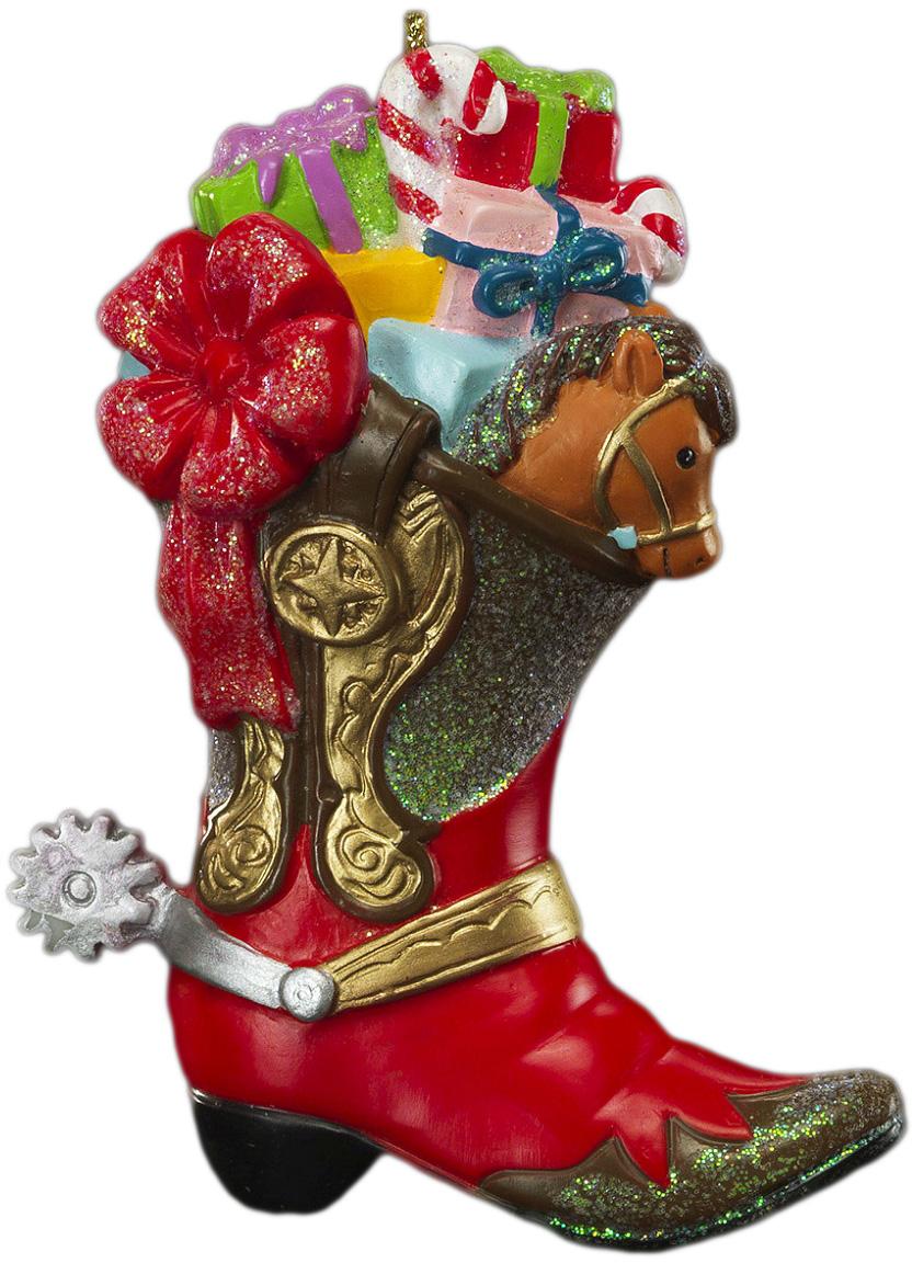 Яркий сапожок с многочисленными подарками символизирует достаток, потому станет достойным акцентом на елке. Новогодние украшения всегда несут в себе волшебство и красоту праздника. Создайте в своем доме атмосферу тепла, веселья и радости, украшая его всей семьей.