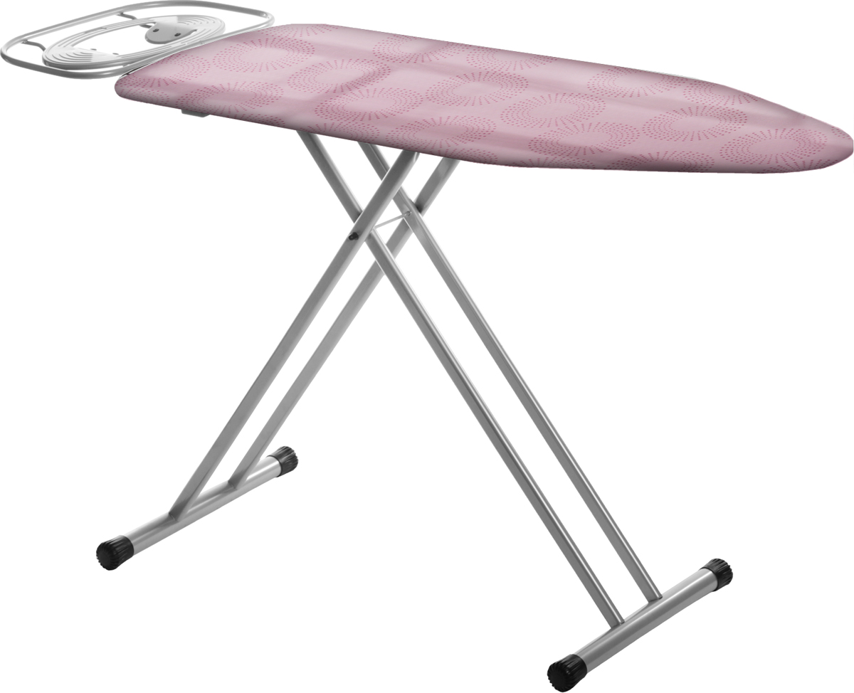 Доска гладильная Hausmann  Companion , c подключением к электросети, цвет: розовый, 125 х 42 см -  Инвентарь для уборки