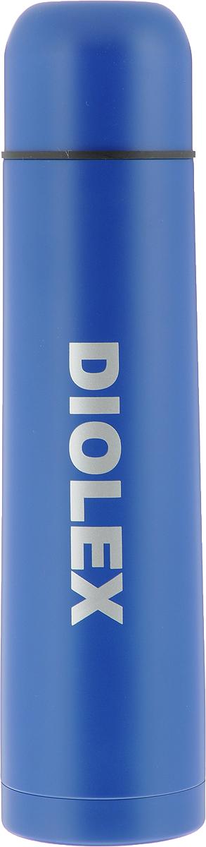 Термос Diolex, с узким горлом, цвет: синий, 1 л