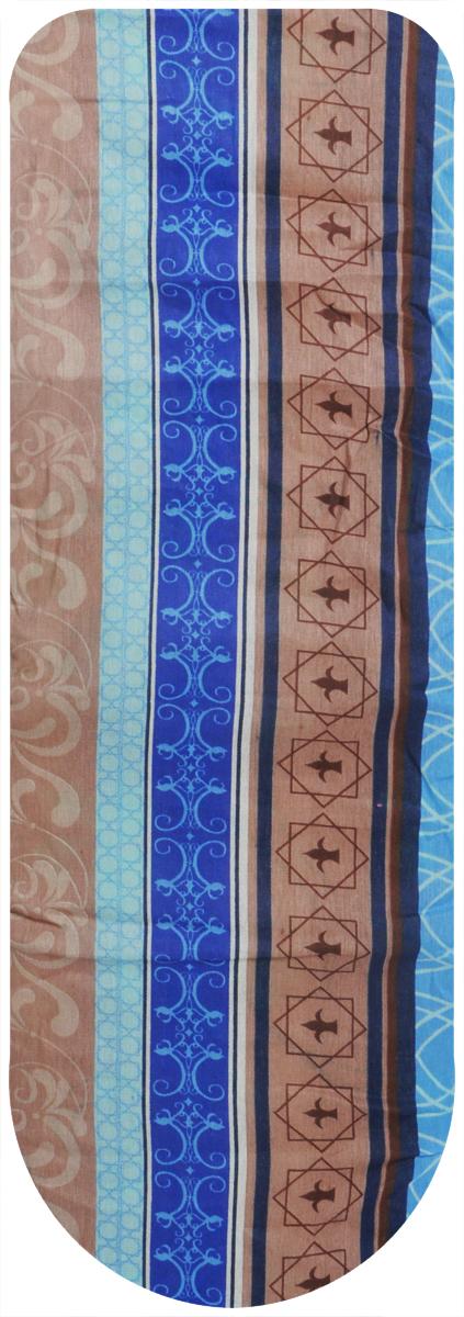 Чехол для гладильной доски Eva, цвет: коричневый, синий, голубой, 119 х 37 см чехол для головных уборов eva цвет коричневый 33 х 33 х 20 см