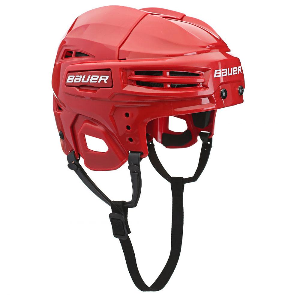 Шлем Bauer IMS 5.0, цвет: красный. 1045678. Размер S1045678Конструкция шлема Bauer 4500 Combo имеет классический вид, верхняя часть с двумя выступающими гребнями и подкладка из вспененного винил-нитрила двойной плотности обеспечивают защиту во время всего матча. Защитный и гибкий материал двойной плотности. Интегрированная защита уха.CSA, HECC, сертификаты СЕ.