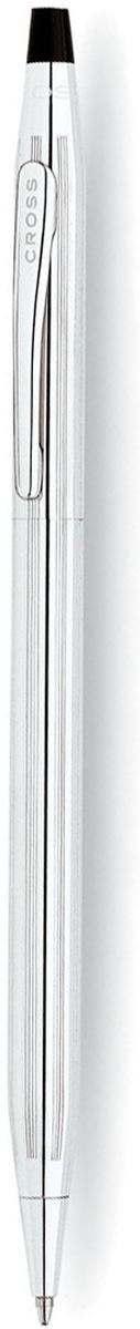 Cross Ручка шариковая Century Classic цвет корпуса серебристый3502Американская компания CROSS – один из старейших брендов среди производителей пишущих инструментов и деловых аксессуаров. Компания была основана в 1846 году ювелиром Ричардом Кроссом и изначально специализировалась на производстве роскошных ротом и серебром. На протяжении долгих лет пишущие инструек из драгоценных металлов и ювелирных корпусов для карандашей, тисненных золотом и серебром. На протяжении долгих лет пишущие инструменты CROSS остаются классическим выбором для подарка.Ручка CROSS — это оригинальный персонгальный подарок и неотъемлемый элемент вашего стиля.Это голос доверия,который создает долгосрочные отношения между людьми и обогащет смыслом драгоценные моменты.Каждая ручка CROSS имеет пожизненную механическую гарантию. Шариковая ручка Cross Century Classic создана для того, чтобы стать гордостью владельца. Тонкий корпус из ювелирной латуни полностью покрыт зеркальным хромом, поэтому сверкает и переливается словно драгоценность. На поверхность нанесена изящная гравировка в виде вертикальных линий.Верхняя часть украшена традиционным клипом с логотипом бренда. Чтобы активировать стержень, необходимо воспользоваться поворотным механизмом и можно сразу приступать к записям. Также есть возможность установки конвертера, преобразующего ручку в механический карандаш. Подарочная упаковка входит в комплект и добавляет в образ презента солидность.Тип товара: Ручка шариковая Коллекция Cross: Century Classic Толщина линии, мм: 0.7 Цвет чернил: черный Материал: латуньхромЦвет: серебристый Упаковка: подарочная коробка