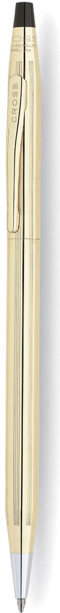 Cross Ручка шариковая Century Classic цвет корпуса золотистый4502Американская компания CROSS – один из старейших брендов среди производителей пишущих инструментов и деловых аксессуаров. Компания была основана в 1846 году ювелиром Ричардом Кроссом и изначально специализировалась на производстве роскошных ротом и серебром. На протяжении долгих лет пишущие инструек из драгоценных металлов и ювелирных корпусов для карандашей, тисненных золотом и серебром. На протяжении долгих лет пишущие инструменты CROSS остаются классическим выбором для подарка.Ручка CROSS — это оригинальный персонгальный подарок и неотъемлемый элемент вашего стиля.Это голос доверия,который создает долгосрочные отношения между людьми и обогащет смыслом драгоценные моменты.Каждая ручка CROSS имеет пожизненную механическую гарантию. Шариковая ручка Cross Century Classic понравится утонченным натурам. Изящный корпус выполнен из прочной ювелирной латуни и покрыт слоем позолоты в 10 карат. Поверхность декорирована алмазной гравировкой в вертикальную полоску. Элементы отделки также позолочены.Чтобы активировать стержень, требуется плавно повернуть верхнюю часть. Боковая сторона дополнена клипом с гравированным логотипом, которым можно зафиксировать ручку на ежедневнике или одежде. Место захвата для пальцев отличается серебристым цветом, и благодаря конусообразной форме комфортно при оформлении записей. В комплект входит солидная подарочная коробка и гарантийный талон.Тип товара: Ручка шариковая Коллекция Cross: Century Classic Толщина линии, мм: 0.7 Цвет чернил: черный Материал: латуньпозолота 10КЦвет: золотистый Упаковка: подарочная коробка