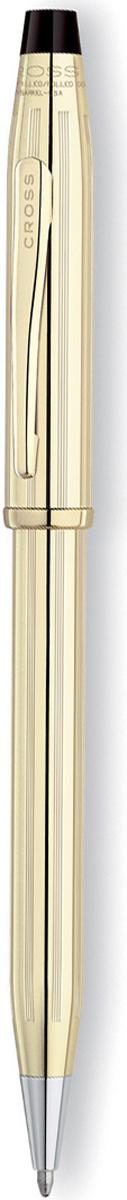 Cross Ручка шариковая Century II цвет корпуса золотистый4502WGАмериканская компания CROSS – один из старейших брендов среди производителей пишущих инструментов и деловых аксессуаров. Компания была основана в 1846 году ювелиром Ричардом Кроссом и изначально специализировалась на производстве роскошных ротом и серебром. На протяжении долгих лет пишущие инструек из драгоценных металлов и ювелирных корпусов для карандашей, тисненных золотом и серебром. На протяжении долгих лет пишущие инструменты CROSS остаются классическим выбором для подарка.Ручка CROSS — это оригинальный персонгальный подарок и неотъемлемый элемент вашего стиля.Это голос доверия,который создает долгосрочные отношения между людьми и обогащет смыслом драгоценные моменты.Каждая ручка CROSS имеет пожизненную механическую гарантию. Шариковая ручка Cross Century II поражает богатым дизайном и станет лучшим подарком для состоятельного человека. Корпус из ювелирной латуни украшен наплавленным золотым покрытием в 10 карат. Поверхность декорирована вертикальной алмазной гравировкой в виде тонких полос.Позолоченные элементы отделки дополнительно брендированы. Верхняя часть украшена клипом с логотипом Кросс и кольцом у основания. Для активации стержня требуется воспользоваться механизмом поворотного действия с надёжной фиксацией в выдвинутом положении. Ручка поставляется в подарочной коробке в комплекте с гарантийным талоном и пакетом.Тип товара: Ручка шариковая Коллекция Cross: Century II Толщина линии, мм: 0.7 Цвет чернил: черный Материал: латуньпозолота 10Кпозолота 23КЦвет: золотистый Покрытие: глянцевое