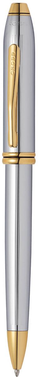 Cross Ручка шариковая Townsend цвет корпуса серебристый золотистый502TWАмериканская компания CROSS – один из старейших брендов среди производителей пишущих инструментов и деловых аксессуаров. Компания была основана в 1846 году ювелиром Ричардом Кроссом и изначально специализировалась на производстве роскошных ротом и серебром. На протяжении долгих лет пишущие инструек из драгоценных металлов и ювелирных корпусов для карандашей, тисненных золотом и серебром. На протяжении долгих лет пишущие инструменты CROSS остаются классическим выбором для подарка.Ручка CROSS — это оригинальный персонгальный подарок и неотъемлемый элемент вашего стиля.Это голос доверия,который создает долгосрочные отношения между людьми и обогащет смыслом драгоценные моменты.Каждая ручка CROSS имеет пожизненную механическую гарантию. Шариковая ручка Cross Townsend, Silver / Gold / АРТИКУЛ: 502TWКорпус: ювелирная латунь. Механизм: поворотного действия. Система заправки: заменяемые стержни Cross для шариковых ручек. Размеры ручки: длина -146,0 мм, максимальная ширина (диаметр) - 10,9 мм. Вес ручки: 37 гр. Отделка: тщательно отполированное вручную хромированное покрытие с оригинальной продольной гравировкой (Highly polished chrome incised with a subtle line pattern), отдельные элементы дизайна - позолота 23 K. Цвет: серебристый / золотистый. Особенности: новый улучшенный дизайн аналогичной модели Cross Townsend выпускавшейся ранее.используются стандартные стержни для шариковых ручек Cross.возможно использование специального конвертора - механический карандаш (грифель 0,7 мм и ластик) в виде стандартного стержня Cross для шариковых ручек .Названная в честь основателя компании Алонзо Таунсенда Кросса, коллекция Cross Townsend - настоящий шедевр. В ней гармонично сочетаются ювелирное мастерство и самые передовые технологии. Это драгоценность в ваших руках. Отличительная черта коллекции - широкий диаметр корпуса пишущих инструментов и опоясывающие его двойные кольца.