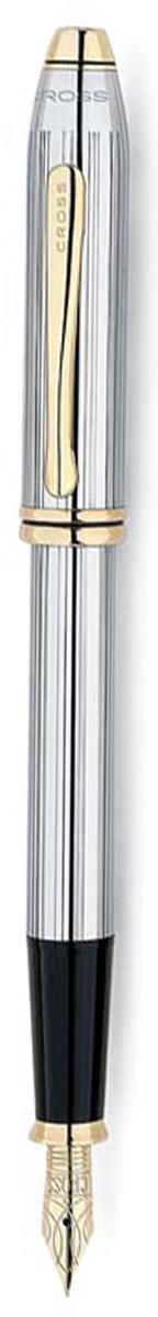 Cross Ручка перьевая Townsend цвет корпуса серебристый золотистый506-MFАмериканская компания CROSS – один из старейших брендов среди производителей пишущих инструментов и деловых аксессуаров. Компания была основана в 1846 году ювелиром Ричардом Кроссом и изначально специализировалась на производстве роскошных ротом и серебром. На протяжении долгих лет пишущие инструек из драгоценных металлов и ювелирных корпусов для карандашей, тисненных золотом и серебром. На протяжении долгих лет пишущие инструменты CROSS остаются классическим выбором для подарка.Ручка CROSS — это оригинальный персонгальный подарок и неотъемлемый элемент вашего стиля.Это голос доверия,который создает долгосрочные отношения между людьми и обогащет смыслом драгоценные моменты.Каждая ручка CROSS имеет пожизненную механическую гарантию.Перьевая ручка Cross Townsend Medalist, Chrome GT (Перо M) / АРТИКУЛ: 506-MFПеро: нержавеющая сталь. Отделка пера: позолота 23K, оригинальная гравировка. Корпус: ювелирная латунь. Механизм: съемный колпачок. Отделка: гравировка в виде тонких продольных линий, зеркальный хром, отдельные элементы дизайна - позолота 23K. Цвет: хром / золото. Особенности: комплектуется поршневым конвертором, возможно использование чернильных картриджей Cross. Механизм: съемный колпачок Цвет корпуса:серебряный, стальной Отделка элементов: золотой цвет Толщина корпуса: стандартная Перо:нержавеющая сталь, позолота Толщина пишущего узла: m (среднее) Названная в честь основателя компании Алонзо Таунсенда Кросса, коллекция Cross Townsend - настоящий шедевр. В ней гармонично сочетаются ювелирное мастерство и самые передовые технологии. Это драгоценность в ваших руках. Отличительная черта коллекции - широкий диаметр корпуса пишущих инструментов и опоясывающие его двойные кольца.