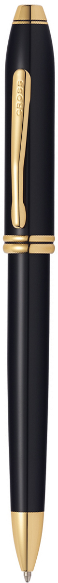 Cross Ручка шариковая Townsend цвет корпуса черный572TWАмериканская компания CROSS – один из старейших брендов среди производителей пишущих инструментов и деловых аксессуаров. Компания была основана в 1846 году ювелиром Ричардом Кроссом и изначально специализировалась на производстве роскошных ротом и серебром. На протяжении долгих лет пишущие инструек из драгоценных металлов и ювелирных корпусов для карандашей, тисненных золотом и серебром. На протяжении долгих лет пишущие инструменты CROSS остаются классическим выбором для подарка.Ручка CROSS — это оригинальный персонгальный подарок и неотъемлемый элемент вашего стиля.Это голос доверия,который создает долгосрочные отношения между людьми и обогащет смыслом драгоценные моменты.Каждая ручка CROSS имеет пожизненную механическую гарантию. Шариковая ручка Cross Townsend, Black GT / АРТИКУЛ: 572TWКорпус: ювелирная латунь. Механизм: поворотного действия. Система заправки: заменяемые стержни Cross для шариковых ручек. Размеры ручки: длина -146,0 мм, максимальная ширина (диаметр) - 10,9 мм. Вес ручки: 37 гр. Отделка: многослойное покрытие высококачественным лаком радикально черного цвета тщательно отполированное вручную, отдельные элементы дизайна - позолота 23 KЦвет: Black Lacquer GT (лаковый черный/золото). Цвет: черный / золотой. Особенности: новый улучшенный дизайн аналогичной модели Cross Townsend выпускавшейся ранее.используются стандартные стержни для шариковых ручек Cross.возможно использование специального конвертора - механический карандаш (грифель 0,7 мм и ластик) в виде стандартного стержня Cross для шариковых ручек .Названная в честь основателя компании Алонзо Таунсенда Кросса, коллекция Cross Townsend - настоящий шедевр. В ней гармонично сочетаются ювелирное мастерство и самые передовые технологии. Это драгоценность в ваших руках. Отличительная черта коллекции - широкий диаметр корпуса пишущих инструментов и опоясывающие его двойные кольца.