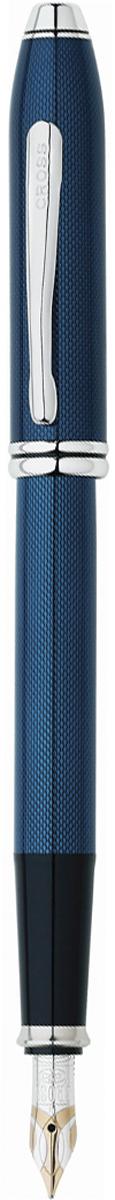 Cross Ручка перьевая Townsend цвет корпуса синий696-1FDАмериканская компания CROSS – один из старейших брендов среди производителей пишущих инструментов и деловых аксессуаров. Компания была основана в 1846 году ювелиром Ричардом Кроссом и изначально специализировалась на производстве роскошных ротом и серебром. На протяжении долгих лет пишущие инструек из драгоценных металлов и ювелирных корпусов для карандашей, тисненных золотом и серебром. На протяжении долгих лет пишущие инструменты CROSS остаются классическим выбором для подарка.Ручка CROSS — это оригинальный персонгальный подарок и неотъемлемый элемент вашего стиля.Это голос доверия,который создает долгосрочные отношения между людьми и обогащет смыслом драгоценные моменты.Каждая ручка CROSS имеет пожизненную механическую гарантию. Перьевая ручка Cross Townsend, Quartz Blue (Перо F) / АРТИКУЛ: 696-1FDПеро: золото 18K. Отделка пера: оригинальная гравировка, частичное покрытие родием. Корпус: ювелирная латунь. Механизм: съемный колпачок. Отделка: оригинальная лазерная гравировка, современная мерцающая отделка лаком насыщенного синего цвета, тщательно отполированная вручную, отдельные элементы дизайна - родиевое покрытие. Цвет: лаковый синий / родий. Особенности: комплектуется поршневым конвертором, возможно использование чернильных картриджей Cross. Механизм:съемный колпачок Цвет корпуса:синий, голубой Отделка элементов:серебряный цвет Толщина корпуса:стандартная Перо:золото 18k Страна:США Толщина пишущего узла:f (тонкое) Названная в честь основателя компании Алонзо Таунсенда Кросса, коллекция Cross Townsend - настоящий шедевр. В ней гармонично сочетаются ювелирное мастерство и самые передовые технологии. Это драгоценность в ваших руках. Отличительная черта коллекции - широкий диаметр корпуса пишущих инструментов и опоясывающие его двойные кольца.